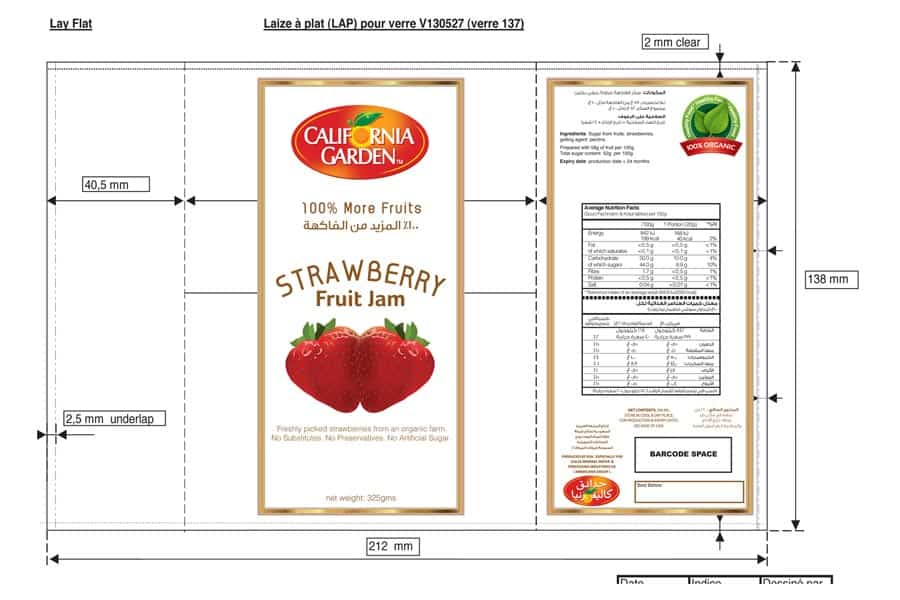 Product Label Template